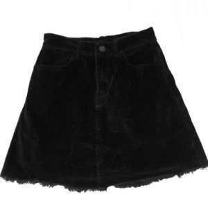 Brandy Melville black corduroy skirt